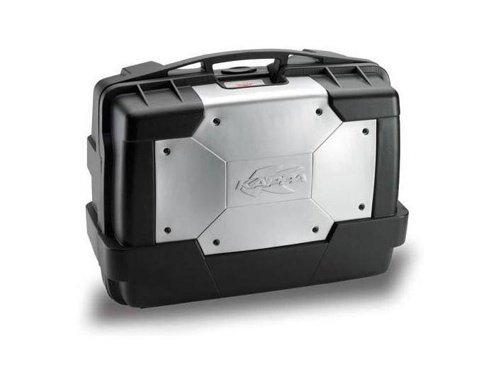 Kufer Kappa KGR46 Garda (czarno-srebrny, 46 litrów)