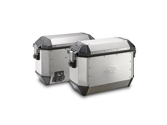 Kufry Kappa KMS37A K-Venture (aluminiowe, srebrne, 2x 36 litrów)