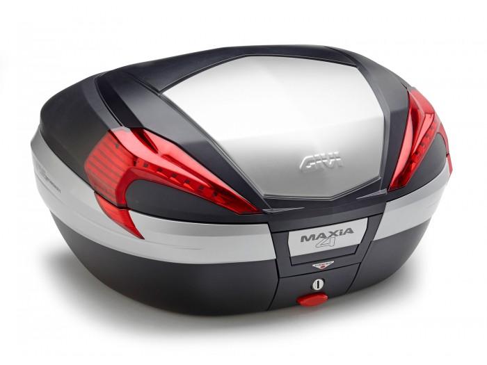 Kufer Givi V56N Maxia 4 (czarny, 56 litrów, czerwone odblaski, pokrywa aluminiowa)