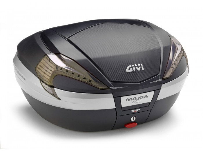 Kufer Givi V56NNT Maxia 4 (czarny, 56 litrów, szare odblaski, pokrywa karbonowa)