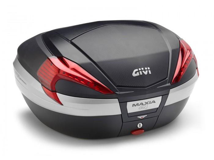 Kufer Givi V56NN Maxia 4 (czarny, 56 litrów, czerwone odblaski, pokrywa karbonowa)