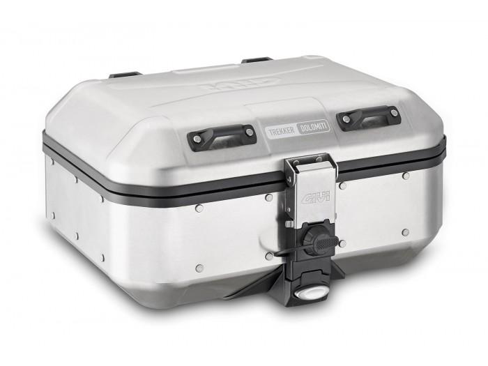 Kufer GIVI DLM30 TREKKER DOLOMITI (aluminiowy-srebrny, 30 litrów)