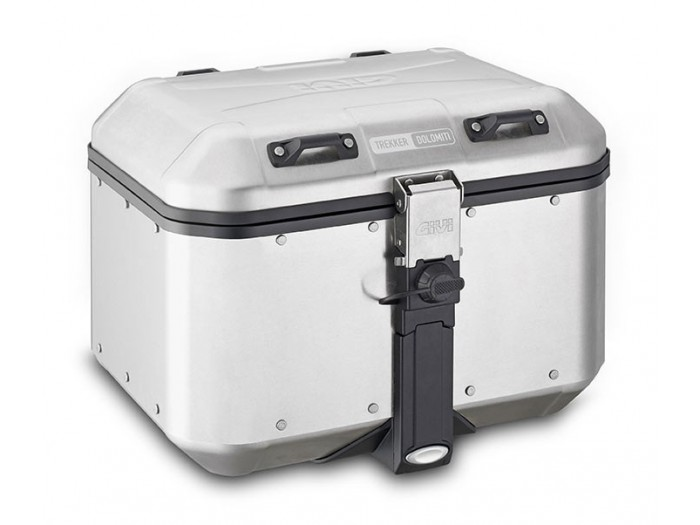 Kufer GIVI DLM46 TREKKER DOLOMITI (aluminiowy-srebrny, 46 litrów)